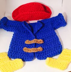 Paddington Bear inspired photo prop by LinkingLoopsBoutique, $60.00