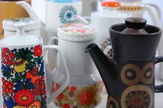 beauty's bij elkaar Brown Coffee, Coffee Set, Denby Pottery, Miscellaneous Goods, Kitchenware, Tableware, Dinner Sets, Vintage Coffee, Vintage Pottery
