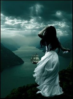 I want to write something to go along with this just by looking at it......Angelique stood and watched as Damian sailed away; her pain and heartache becoming unbearable as the distance between them grew. He had a war to fight; she prayed he would return to her......and their unborn child one day.