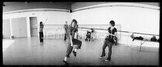 L Word BOOK Prints :: Dance Rehearsal -- photo by Jennifer Beals -- from Season-6 Episode 7 (6.07). Photo includes: Rachel Shelley (Helena Peabody), Laurel Holloman (Tina Kennard), Leisha Halley (Alice Pieszecki), Kate Moennig (Shane McCutcheon - hey Shane never danced in episode??). Appears in the L Word Book on pages 184 and 185.