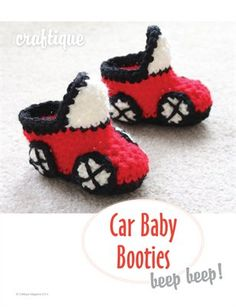 Craftique - Crochet Car Baby Booties, $1.99 from MagCloud