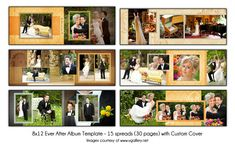 EVERY AFTER - 8x12 Album Template 15 spread (30 page) Design With Custom Cover…