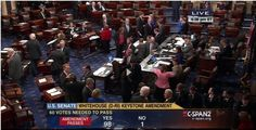 With only one dissenter - Sen. Roger Wicker (R-MS) - U.S. Senate passes amendment says climate change is real. Not necessarily an endorsement of the man-made 'global warming' theory, as Sen. James Inhofe points out that the climate is naturally changing all the time and always has. Nonetheless, the Marxists will rub this in our faces, and good on Wicker for not falling for this dirty trick ...  https://www.facebook.com/pages/Bay-State-Conservative-News/232712126794242