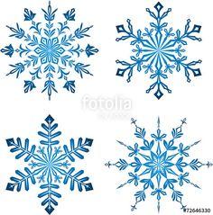 Vektor: Blue Snowflakes Paper Snowflakes, Christmas Snowflakes, Christmas Art, Xmas, Snowflake Stencil, Snow Tattoo, Snow Flake Tattoo, Schnee Tattoo, Frozen Snowflake