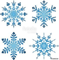 Vektor: Blue Snowflakes