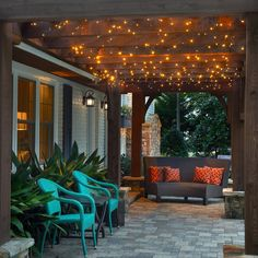 Backyard Decor, Porch Lighting, Small Backyard, Outdoor Decor, Backyard Inspiration, Backyard Projects, Outdoor Lighting, Backyard Lighting, Patio Lighting