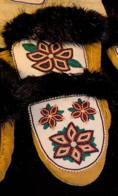 native american beadwork | Native American beadwork | Native clothing design Native Beadwork, Native American Beadwork, Native American Indians, Indian Beadwork, Beaded Moccasins, Beaded Shoes, Native Art, Native Style, Alaska