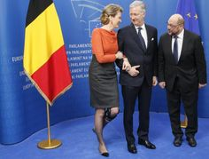 25 February: King Philippe and Queen Mathilde of the Belgians visited the European Union Parliament in Brussels.