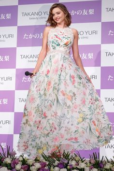 Miranda Kerr in Tadashi attends a promotional event for Takano Yuri Beauty Clinic in Tokyo, Japan (I) Best Celebrity Dresses, Celebrity Red Carpet, Miranda Kerr 2016, Beauty Clinic, Tadashi Shoji, Red Carpet Looks, Hollywood Celebrities, Daily Fashion, Women's Fashion