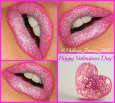 Eye Kandy's Marshmallow and Bubblegum for these cute Valentine lips