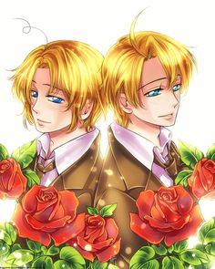 APH: America x Canada by Kagome-Inuyashkina.deviantart.com on @deviantART - Whoa...Matthew and Alfred look so much alike here!