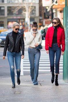 Gigi, Bella, and Yolanda Hadid Do Sunday Brunch Style - Vogue