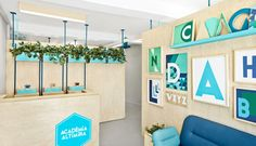 Saying it with Alphabets  Simple design solutions often make a telling impact. Check out the rebranding and interiors exercise of this language school in Barcelona and leave us your views…  http://globalhop.indiaartndesign.com/2015/07/saying-it-with-alphabets.html