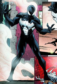 My favourite Spider-Man outfit : the black costume.-My favourite Spider-Man outfit : the black costume. My favourite Spider-Man outfit : the black costume. Black Spiderman, Amazing Spiderman, Comics Spiderman, Spiderman Kunst, Spiderman Symbiote, Marvel Venom, Marvel Heroes, Marvel Avengers, Arte Nerd