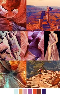 Inspiration from the Grand Canyon. Earthy, soft, gorgeous, calming. #colorswatches