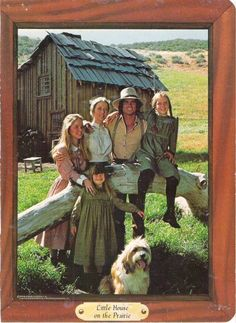 Little House on the Prairie cast: Melissa Sue Anderson (Mary), Karen Grassle (Caroline), Michael Landon (Charles), Melissa Gilbert (Laura), Lindsey / Sidney Greenbush (Carrie).