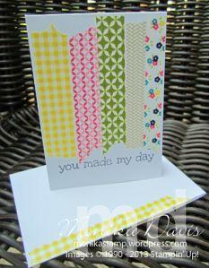 mini note cards - washi tape