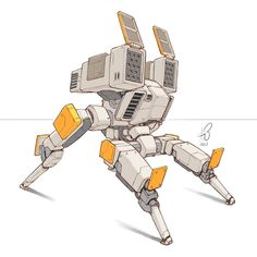 042 2017 some sort of fire support platform. Why are there no pew pew emojis?  #mech #mecha #robot #sketch #quicksketch #sketcheveryday #sketchingisawesome #instaart #instaartist #cantstopdrawingbots #robotloversunite #sketchbookpro...