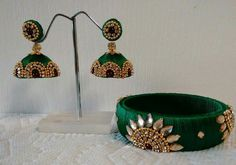 Www.handishcraft.WordPress.com Green Ethnic jewellery