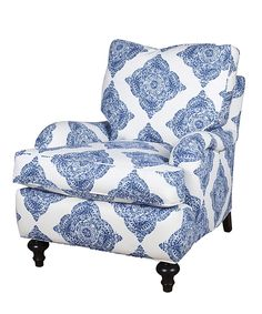 Cambridge Chair  Possible extra seating for my my bedroom.  Too much pattern?