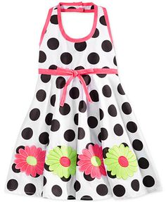 Blueberi Boulevard Baby Girls' Polka-Dot Halter Dress Baby Girls, Cute Girls, Dresses Online, Kid Stuff, Polka Dots, Babies, Summer Dresses, Shopping, Clothes