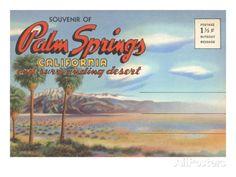 Postcard Folder, Palm Springs, California Print at AllPosters.com