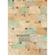 Cavallini Paris Postcards Wrapping Paper - Paper Source