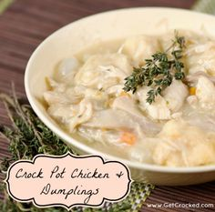 Crock Pot Chicken & Dumplings! (easy)