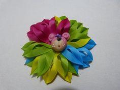 tutorial flores moños en punta para el cabello en cinta delgada paso a p...