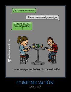 La tecnología revoluciona la comunicación... (presente progresivo) - Visit http://www.estudiafeliz.com for more fun materials for Spanish teachers and students!