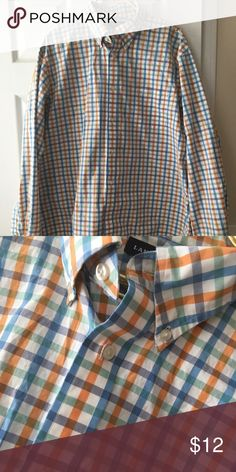 Land's End Men's dress shirt Gorgeous spring colors, perfect for Easter!  Great condition fits 17- 17 1/2 Lands' End Shirts Dress Shirts