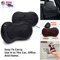 Soft U Shape Travel Support Pillow Neck Cushion Stress Bead Snug Sleep Massager Easy To Lubricate Travel Accessories
