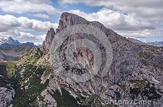Fantastic view in the Dolomite Alps. Italy