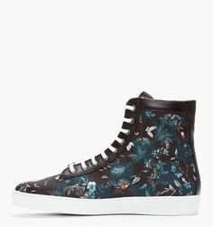 The Floral Shoes from Alexander McQueen Have a Checkered Design #shoes trendhunter.com