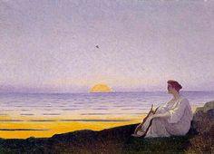 La muse du soir von Alphonse Osbert