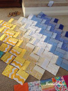 Beginning Quilting Ombre Chevron Quilt Chevron Quilt Pattern, Patchwork Quilt Patterns, Beginner Quilt Patterns, Quilting For Beginners, Quilt Patterns Free, Chevron Quilt Tutorials, Chevron Baby Quilts, Skirt Patterns, Blouse Patterns