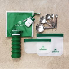 Single-use plastic is one of the worst environmental offenders, but it's easy to help! These branded, on-the-go items can be used day after day so you can tout your pride for Arbonne and sustainability all at once. The planet will thank you! This kit is available for both Independent Consultants, Preferred Clients and Clients. A $65 value for $39 (33.60 RV/39 QV). Arbonne Nutrition, Collapsible Water Bottle, Essential Oil Companies, Arbonne Business, Buisness, Sustainability, Pure Products, Green, Pride