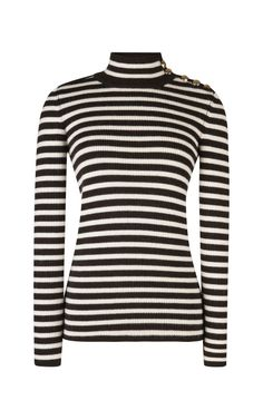 9aa67add43b Dark Olive Stripe Mariniere Knit by Bouchra Jarrar