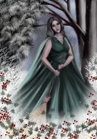 Holda is a Germanic goddess with many interesting characteristics – maiden, mother, hag, spinner, stormbringer, ruler of the Wild Hunt, protector and thief of children's souls. goddess of Winter