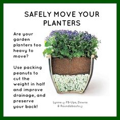 SAFELY MOVE YOUR PLANTERS