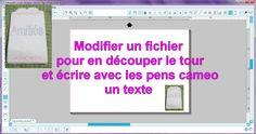 video : faire un tag au sketch pen avec differentes couleurs et couper son contour pour silhouette caméo