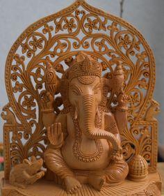 Lord Ganesh & Buddha - Solid wood intricate design- Indian Handicraft - Handmade - Indian Handicraft - by AAnjalees on Etsy Buddha, Shops, Lord Ganesha, Wood Cutting, Handicraft, Krishna, Wood Crafts, Solid Wood, Lion Sculpture