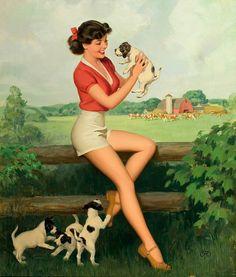 Pin up Girl Vintage art Pin Up Vintage, Vintage Fox, Vintage Cowgirl, Vintage Ladies, Betty Boop, Comics Vintage, Vintage Posters, Estilo Pin Up, Pin Up Girls
