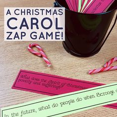 Keep your middle school students engaged on the last days before break by reviewing the plot of A Christmas Carol with this fun FREE game!  #teaching #languagearts Christmas Games, Christmas Carol, Ready To Play, Free Games, Middle School, Students, This Or That Questions, Teaching