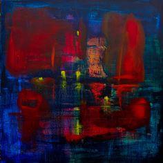 David Muddyman - Long Songs #2: Song of the Barbican No.1 (Mixed Media on Canvas 76.2cm x 76.2cm)