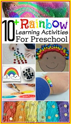 10 Preschool Rainbow Learning Activities And Moms Library 129
