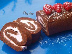 #Σοκολατένιο #swissroll με #raspberries #christmas #επιδόρπια #nostimiesgiaolous Swiss Roll Cakes, Pound Cake, Christmas Cookies, Sweet Recipes, Christmas Time, Raspberry, Cheesecake, Rolls, Pudding