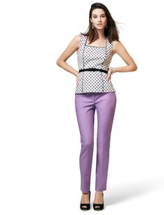 The Perfect Form City Pant. Now in lilac.  #whbm #perfectform #spring