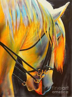 White Horse Painting by Robert Hooper - White Horse Fine Art Prints and Posters for Sale