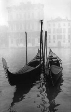 Gondolas ~Venice - it's amazing to see the city from a gondola! Torre Effiel, Motif Fair Isle, Venice Travel, Monochrom, Black And White Photography, Scenery, Images, Around The Worlds, Art Prints